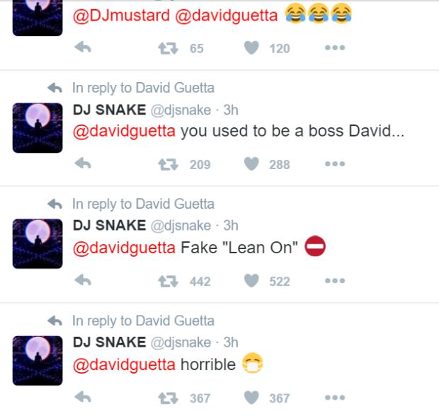 Tuits de Plagio David Guetta